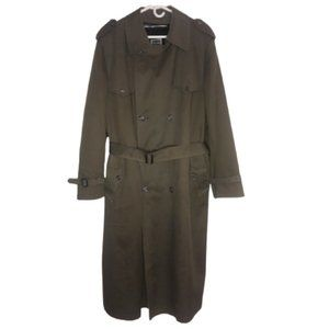Christian Dior Monsieur Trench Coat Olive/Tan 42L